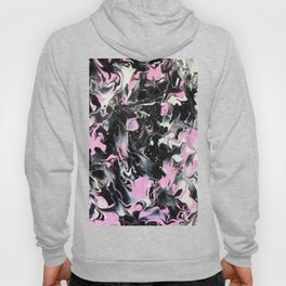 Fluid Acrylic (Black, white and pink) Hoody
