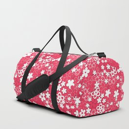 Red and white paper flowers 1 Duffle Bag