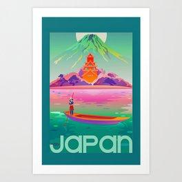 Vivid Vintage Japan Travel  Art Print