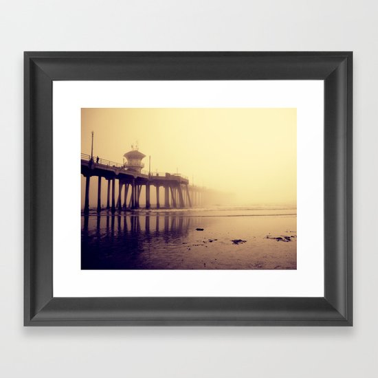 Huntington Beach Wall Decor : Huntington beach pier framed art print by kameron