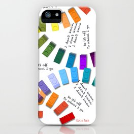 Off to school I go - with my colorful building blocks iPhone Case