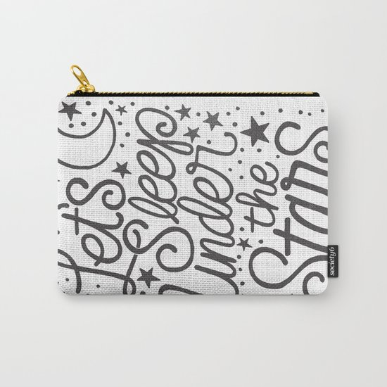 Let's Sleep Under The Stars Carry-All Pouch
