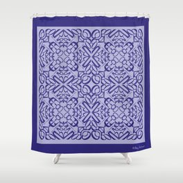 Courage of her Conviction Tiled - Violet Lavender Shower Curtain