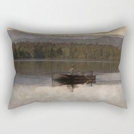 Fishing in Silence Rectangular Pillow