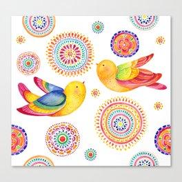 Bright Birds Canvas Print