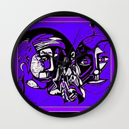 For Travis~His Purple dream Wall Clock