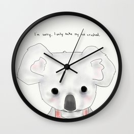 kimberly koala Wall Clock