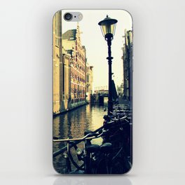 Bikes on the Canal iPhone Skin