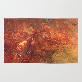 Mars mixed media on canvas, abstract artwork on canvas, close up photograph contemporary artist Rug