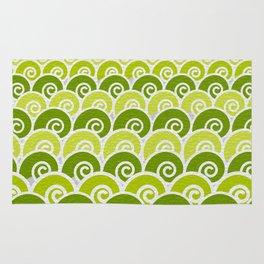 Green Beach Waves Rug