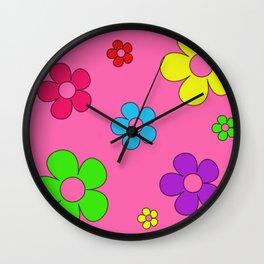 Flashback Pink Wall Clock