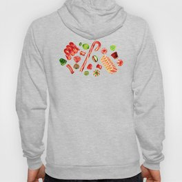Christmas Candy Pattern Hoody