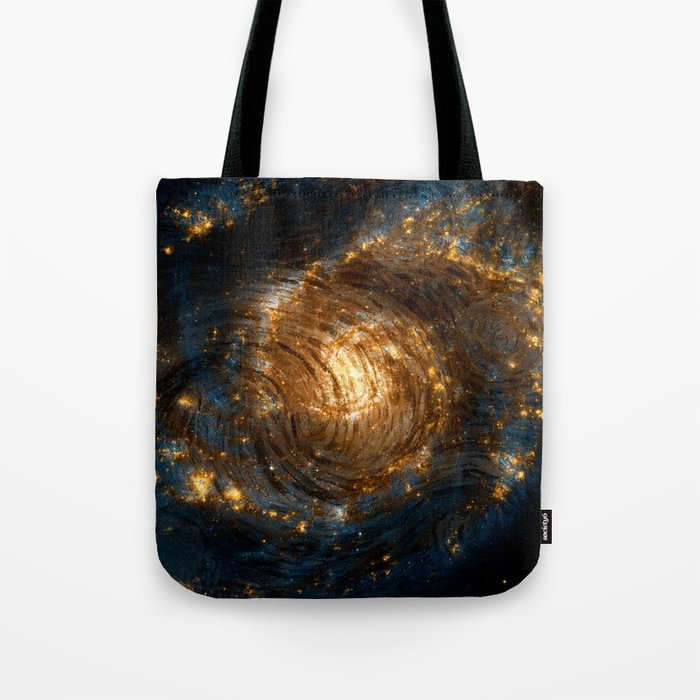 Starry Galaxy Night Tote Bag