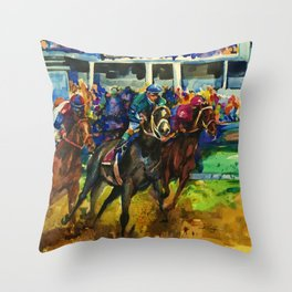 The Race No. 2 by Kathy Morton Stanion Throw Pillow
