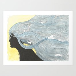 Thoughts of the sea Art Print