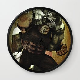 hulk v.s. juggernaut Wall Clock