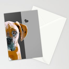 Boxer lovers Stationery Cards