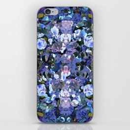 Blue Spot Floral iPhone Skin