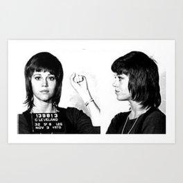 Fonda Mugshot Art Print
