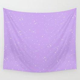 Pastel Purple Night Sky Wall Tapestry