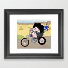 Easy Riding Framed Art Print