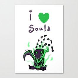 I love Souls! Canvas Print