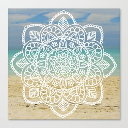 Beach Mandala Canvas Print