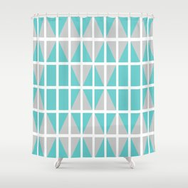 Triangle chaos Shower Curtain