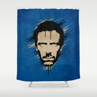 house Shower Curtains featuring House by Durro