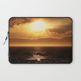 Silver lining on Clouds at Sunset Laptop Sleeve