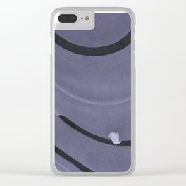 feather on ice Clear iPhone Case