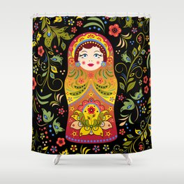 Russian matrioshka Shower Curtain