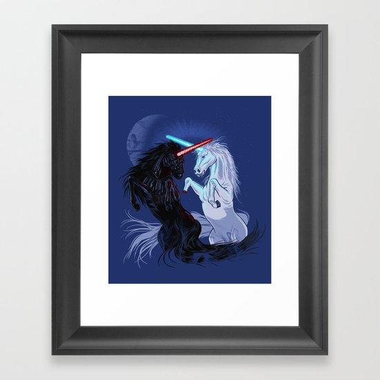 Starwars with Unicorns  Framed Art Print