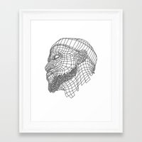 lebron Framed Art Prints featuring Basketball King by NEW YORK STUDIO 202
