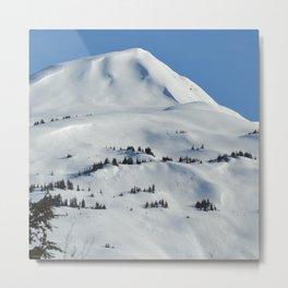 Back-Country Skiing  - VI Metal Print