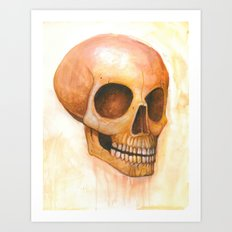 deaths grinning head Art Print