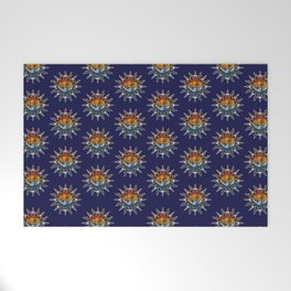 Celestial Mosaic Sun and Moon Welcome Mat