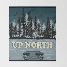 Up North at Night Throw Blanket