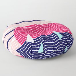 Hello Ocean Sunset Waves Floor Pillow