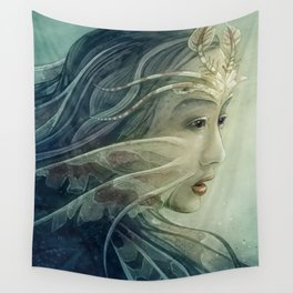 Lionfish mermaid Wall Tapestry