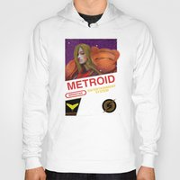 metroid Hoodies featuring NES Metroid  by IF ONLY