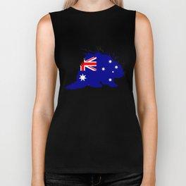Australian Flag - Porcupine Biker Tank