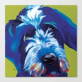 Wirehaired Griffon Dog Pop Art Pet Portrait  Canvas Print