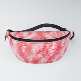Ruby & Pastel Blush Strawberry Lace Pattern Fanny Pack