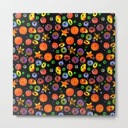 colored BOOM! Colored pattern Metal Print