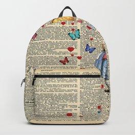 Drink Me - Vintage Dictionary Page - Alice In Wonderland Backpack