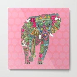 painted elephant pink spot Metal Print
