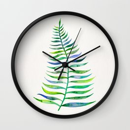 Palm Leaf – Green Palette Wall Clock