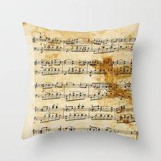 Vintage Music Throw Pillow