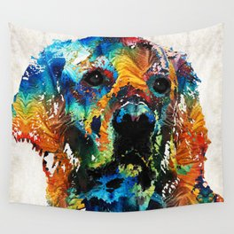 Colorful Dog Art - Heart And Soul - By Sharon Cummings Wall Tapestry